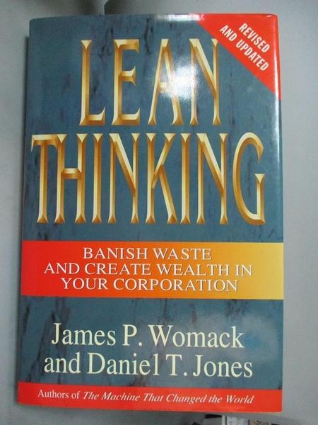 【書寶二手書T1/大學商學_ZGW】Lean Thinking: Banish Waste and..._Womack
