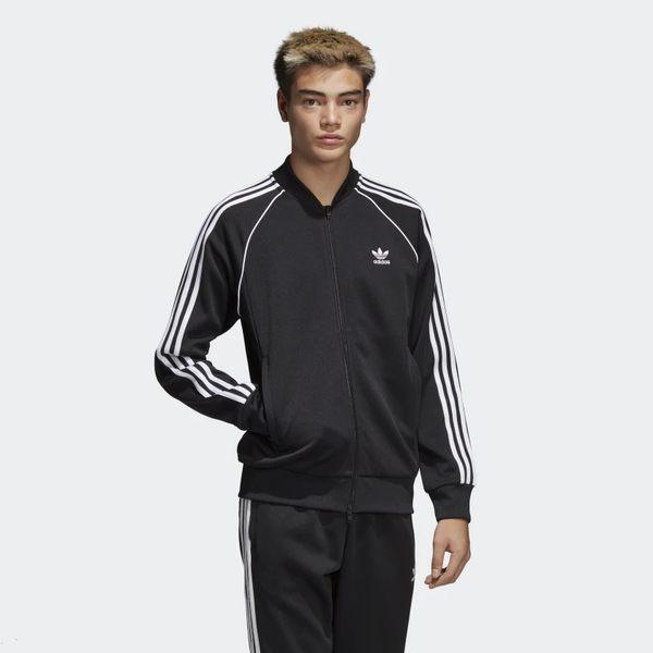 Adidas SST Track Jacket 男裝 外套 立領 休閒 黑 【運動世界】CW1256