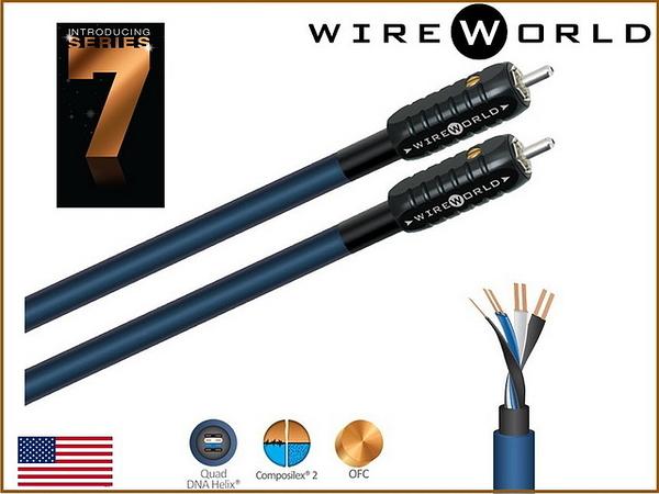 盛昱音響【現貨來電/店殺】美國 WireWorld OASIS 7 綠洲 (OAI) 發燒級RCA線 1M 【外縣市隔日火速到貨】
