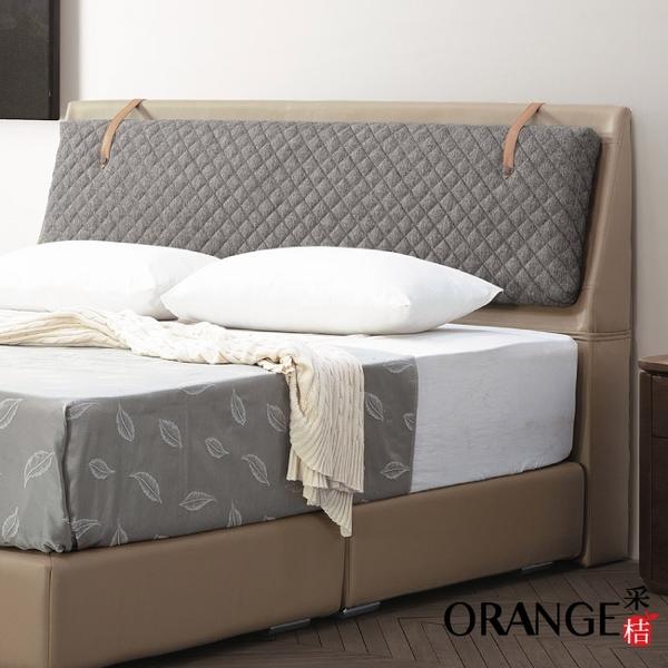 【采桔家居】阿克拉 現代6尺皮革雙人加大床頭片(二色可選+不含床底+不含床墊)