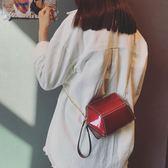 小包包女2018新款潮正韓百搭斜挎包夏季漆皮迷你鏈條包chic單肩包