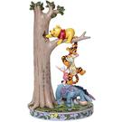 Enesco Disney 小熊維尼與好友們爬樹塑像_EN28246