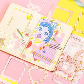 【BlueCat】小清新多邊形相框系列貼紙  手帳貼紙