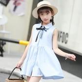 胖女童洋氣裙子2019新款韓版中大童連身裙12女孩夏裝公主裙15歲焱