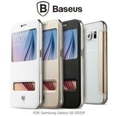 Baseus Samsung Galaxy S6 G920F 原色系列 開窗 滑動接聽 保護套 手機套 三星
