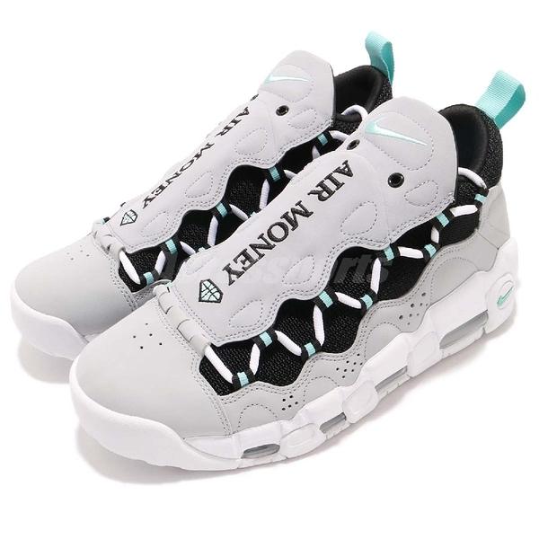 Nike Air More Money 大AIR 灰 白 粉藍 可更換式鞋面設計 男鞋 氣墊 運動鞋【PUMP306】 AJ2998-003