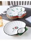 餐盤 餃子盤子帶醋碟家用個性早餐餐具創意網紅分格餐盤壽司碟子TW【快速出貨八折鉅惠】