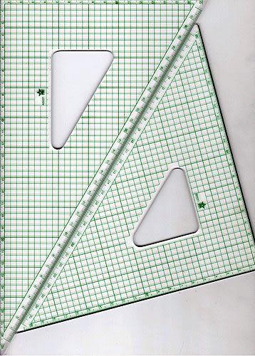 恰德美鋼緣切割三角板20CM A&B 一組2支* MT-20A&B