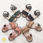兒童涼鞋女2018新款夏季韓版中大童女孩公主鞋平底小學生女童涼鞋 WE2384『東京衣社』