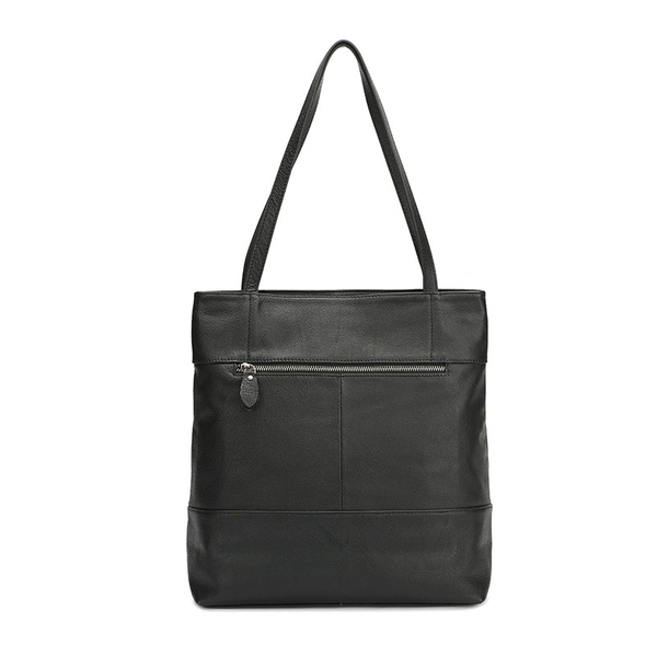 真皮肩背包-大容量簡約通勤托特包女手提包2色73wp3【時尚巴黎】
