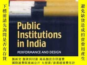 二手書博民逛書店Public罕見Institutions In India: P
