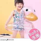 透明鴨子充氣式兒童泳圈 座圈 腋下圈