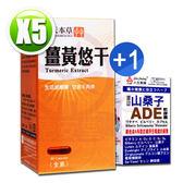 順天本草薑黃悠干膠囊(30顆/盒)x5 送【人生製藥 渡邊山桑子ADE軟膠囊(50錠)x1(送完為止)】
