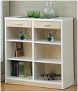 三色可選【澄境】可調式六格二抽櫃 3*3尺書櫃 櫥櫃 收納櫃 書櫃 抽屜櫃 置物櫃 9090
