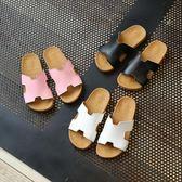 夏季兒童鞋女童韓版涼拖公主拖鞋時尚家居家一字拖休閒親子拖   初見居家