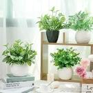 仿真盆栽小清新仿真綠植小盆栽家居客廳餐桌擺件裝飾花藝植物假花套裝 大宅女韓國館