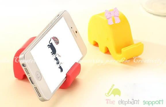 【大象手機架】糖果色動物造型手機座 平板支架 小象名片座