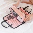 便攜化妝包大容量手拿收納包韓國簡約防水旅行洗漱包手提化妝品包