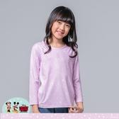 【WIWI】雪花米奇溫灸刷毛圓領發熱衣(薰衣紫 童100-150)