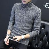 男針織衫套頭衫秋冬高領長袖毛衣外套男士修身韓版男裝男生毛衣《印象精品》t6605