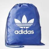 adidas 束口袋 Originals Trefoil Gym Sack 男女款 雙肩背 經典 後背包 背包 藍 白 【PUMP306】 BJ8358