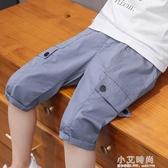 男童短褲工裝褲2020夏裝新款洋氣兒童休閒中褲中大童五分褲潮童裝【小艾新品】