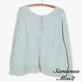「Hot item」2WAY正反兩穿圓領針織罩衫/上衣 (提醒 SM2僅單一尺寸) - Sm2