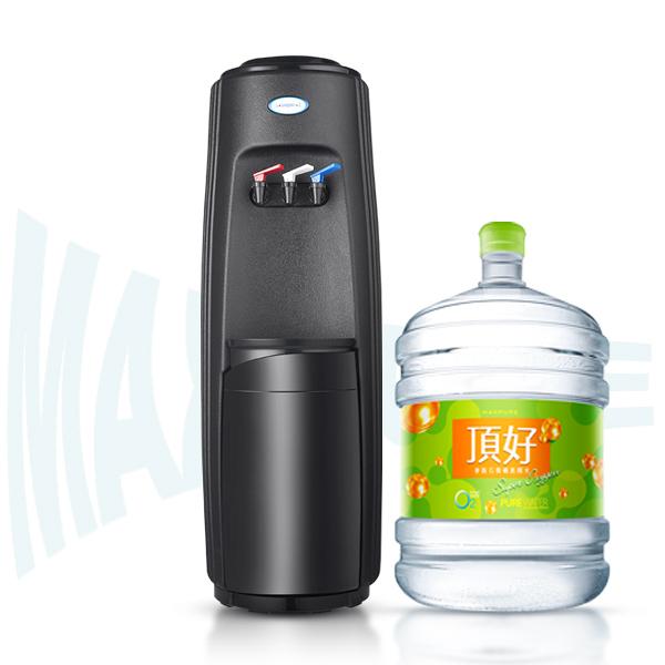 頂好 直立式冰溫熱飲水機(黑) + 麥飯石涵氧桶裝水(方案2擇1→A:20L X 15瓶 / B:12.25L X 25瓶)