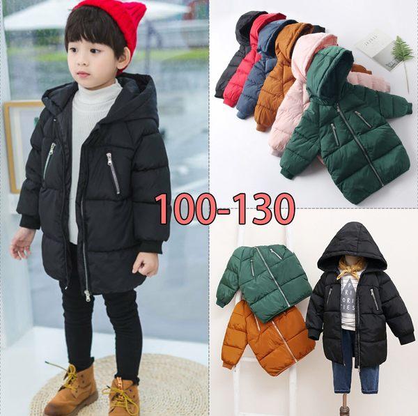 兒童羽絨棉外套秋冬中小童中長款男女童外套