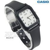 CASIO卡西歐 LQ-142-7B 簡單 輕便 運動數字指針錶 女錶 方形復古 白x黑 LQ-142-7BDF【時間玩家】