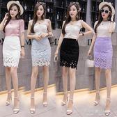 職業裙蕾絲裙半身裙子女新款韓版包臀裙高腰一步裙ol職業短裙  凱斯盾數位3C