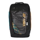 Yonex PRO Backpack [BA92012MEX193] 後背包 羽拍袋 2支裝 獨立鞋袋 減壓背帶 駱駝金
