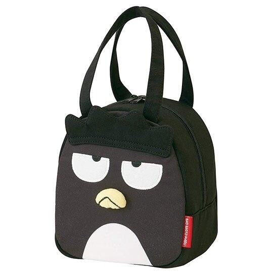 〔小禮堂〕酷企鵝 迷你造型棉質手提袋《黑.全身》便當袋.外出袋 4973307-43885