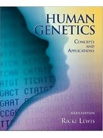 二手書博民逛書店 《Human Genetics: WITH Bound in OLC Card》 R2Y ISBN:0071111573│RickiLewis