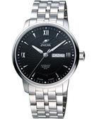ENICAR 光輝時刻經典機械腕錶-黑/銀 3168-50-351aB