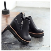 小鄧子2017新款高跟馬丁靴女韓版百搭厚底女靴內增高冬季小短靴