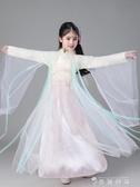 三生三世十里桃花白淺同款古裝仙女服小孩公主長裙漢服女裝紗 時尚潮流