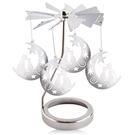 歐沛媞 旋轉燭罩蠟燭台-銀-月亮上的貓 ...