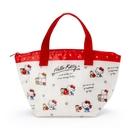 小禮堂 Hello Kitty 防水保冷便當袋 午餐袋 保冷提袋 保溫袋 野餐袋 (米 滿版) 4550337-49467