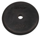 平面式包膠槓片4KG(單片)/啞鈴片/重量片/槓鈴片/組合式槓片/重量訓練