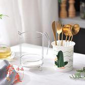 陶瓷筷籠瀝水家用筷子桶筷簍收納置物架筷筒【奈良優品】