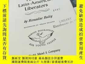 二手書博民逛書店famous罕見latin american liberator