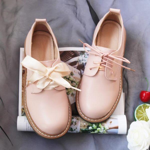 單鞋女秋冬溫柔軟妹娃娃小皮鞋日系洛麗塔學生鞋仙女鞋子復古加絨