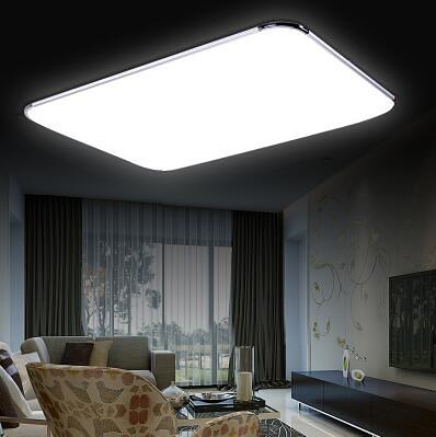 LED燈 超薄LED吸頂燈客廳燈具長方形臥室餐廳陽台創意現代簡約辦公室燈 DF 交換禮物
