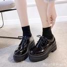 牛津鞋 英倫風JK制服日系加絨小皮鞋女2020冬季新款百搭厚底黑色秋季單鞋 618購物節
