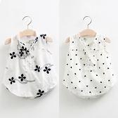 2018夏裝韓版新款女童童裝兒童無袖襯衫