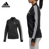 Adidas Snap Track 女 黑 白 立領暗扣外套 立體版型夾克 Jacket 愛迪達 經典款 CE6024