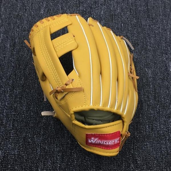 Winget品牌10英寸兒童棒球練習手套接球手套適合初級學者左撇子用