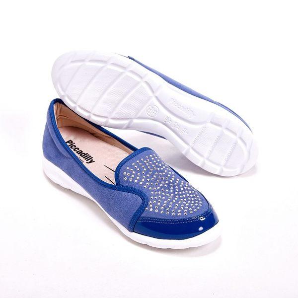 Piccadilly 閃亮貼鑽麂皮包鞋  女鞋-藍(另有黑)