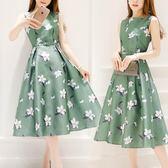 無袖洋裝  2018夏季新款韓版顯瘦大碼胖妹妹短袖上衣連身裙